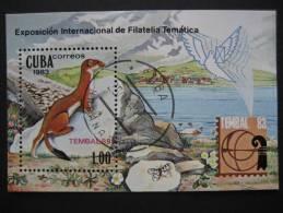 "CUBA  1983   ""TEMBAL ´83""  INTERNATIONAL  THEMATIC  STAMP  EXHIBITION  SWITZERLAND    MINIATURE  SHEET - Unclassified"