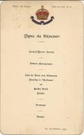 MONTE CARLO . METROPOLE 1922 - Menus