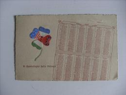 """Calendario/cartolina """"Il Quadrifoglio Della Vittoria"""" 1919 (militare-Prima Guerra Mondiale) - Calendari"""