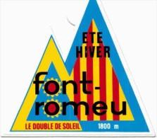 Autres Collections -  Autocollant / Sticker-  Font Romeu - Autocollants