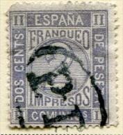 Edifil 116, Amadeo Cifra 2 Centimos Gris De 1872 En Usado - Usados