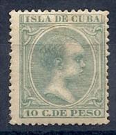 130605550  COLCU  ESP.   EDIFIL Nº  150  *  MH - Cuba (1874-1898)