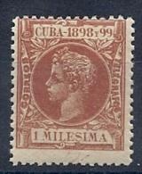 130605551  COLCU  ESP.   EDIFIL Nº  154  *  MH - Cuba (1874-1898)