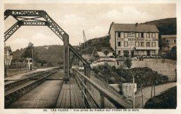 Les Fades. Vue Prise Du Viaduc Sur L'Hotel De La Gare - France