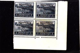 1939-ASSEMBLEA COSTITUENTE 1.Q GRIGIO NERO NUOVI MNH** QUARTINA - Nuovi