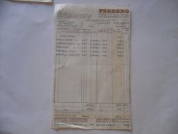 Pubblicità Advertising   Alba Cuneo Documento Fattura Ferrero - Italia