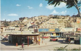 Nogales AZ Arizona, View Of Town, US-Mexico Border, Autos Business Signs, C1950s Vintage Postcard - United States