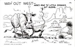 'Way Out West' AZ Arizona, Empie Artist Signed Humor C1940s Vintage Postcard - United States