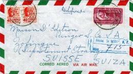 """1958, Mexico, LP-Reco-Brief Mit 3fach Frankierung Und Rückseiter Siegelmarke Sonderstempel """"Registrados Mexico"""" - Mexiko"""