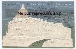 - State House - BOSTON. MASS - En 1906,  Gaufrée, Splendide, Cachet LOWELL, Peu Courante, écrite, TBE, Scans. - Boston