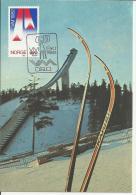 NORWAY 1982 - MAXIMUM CARD FD ISSUE V M WORLD SKI CHAMPIONSHIP FEB 18-28, 1982 - FIRST PLAN KARHU SKIES NEW UNUSED W 1 S - Maximumkarten (MC)