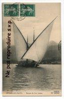 - EVIAN LES BAINS - Barque Du Lac Leman, En 1910, Splendide, Peu Courante, écrite, Timbres, TBE, Scans. - Evian-les-Bains