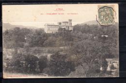 FRANCE 11(AUDE).CHALABRE. LE CHATEAU,CIRCULÉE 1906 AVEC  TIMBRE - Axat