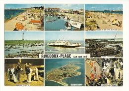 Cp, 17, Ile De Ré - Rivedoux-Plage, Multi-Vues, Voyagée 1982 - Ile De Ré