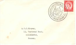 GB Addressed Cover Surrey Philatelic Convention And Exhibition 1961 Woking QEII 2.5d Wilding - Marcofilia