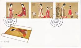 PRC T 89  FDC   PAINTINGS OF TANG DYNASTY - 1949 - ... People's Republic