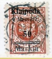 Memel  N 3  (o) - Memel (1920-1924)
