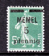Memel  18  * - Unused Stamps