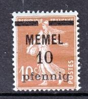 Memel  19  * - Unused Stamps