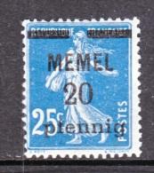 Memel  20  * - Memel (1920-1924)