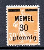 Memel  21  * - Unused Stamps