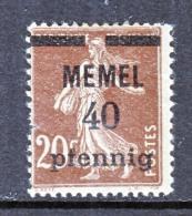 Memel  22  * - Memel (1920-1924)