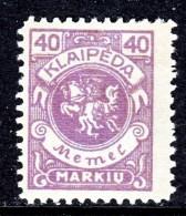 Memel  N 21  * - Memel (1920-1924)