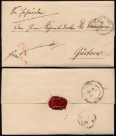 1857 Mecklenburg-Schwerin Markenloser Brief BOIZENBURG Rs. Bahnpost-Stempel Hagenow Rostock Nach Güstrow Mit Kpl. Inhalt - Mecklenburg-Schwerin