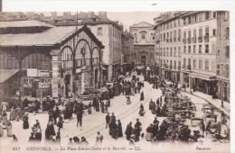 GRENOBLE 141 LA PLACE SAINTE CLAIRE ET LE MARCHE (ANIMATION) - Grenoble