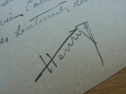 GENERAL Paul Prosper HENRYS (1862-1843) - Autographe - Autographes