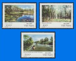VN 2003-0001, Southern Vietnam Landscapes, Set Of 3 MNH Stamps - Vietnam