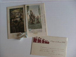 """Calendarietto/calendario Santino """"I Fratini Di Saiano - Anno Domini 1947""""  Con Bigliettino Augurale Di Buon Anno - Calendari"""