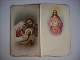 Calendarietto/calendario Santino Nascita Gesù Bambino - Sacro Cuore 1943 - Calendari