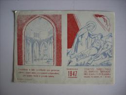 """Calendarietto/calendario 1947 """"Tempio Nazionale Del Perpetuo Suffragio Pro Caduti Di Guerra"""" ROMA - Calendari"""