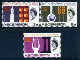 Ascension 1967 20th Anniversary Of UNESCO Set MNH - Ascension