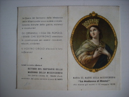 """Calendarietto/calendario 1948 """"La Madonna Di Rimini"""" Santuario Madonna Della Misericordia. Donazioni - Calendari"""