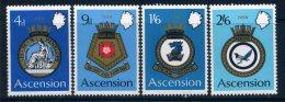 Ascension 1970 Royal Naval Crests (2nd Series) Set MNH - Ascension