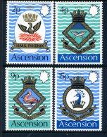 Ascension 1971 Royal Navy Crests (3rd Series) Set MNH - Ascension