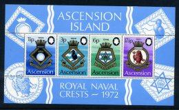 Ascension 1972 Royal Navy Crests (4th Series) MS MNH - Ascension (Ile De L')