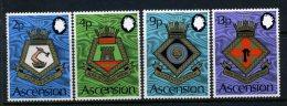 Ascension 1972 Royal Navy Crests (5th Series) Set MNH - Ascension