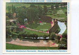 Cambremer Château De Crevecoeur En Auge Musée Architecture Normande Recherche Pétrole - Vue Aérienne 2 Scans - Frankreich