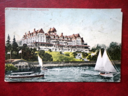 Hotel Tacoma - Tacoma - Washington - Sailing Boat - Passenger Boat - Sent To Estonia In 1924 - USA - Used - Tacoma