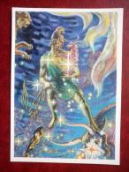 Auriga - Constellations - Slave - Stars - Night Sky - Illustration By G. Glebova - 1990 - Russia USSR - Unused - Astronomia