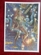 Ophiuchus - Scorpius - Constellations - Serpent-bearer - Scorpion - Night Sky - 1990 - Russia USSR - Unused - Astronomia