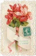 Cpa Fantaisie, Myosotis, Roses  (FA) - Tarjetas De Fantasía