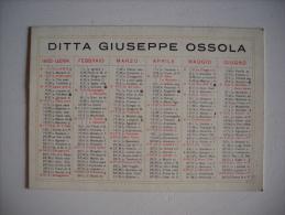 Calendario 1932 DITTA GIUSEPPE OSSOLA - Torino - Calendarios