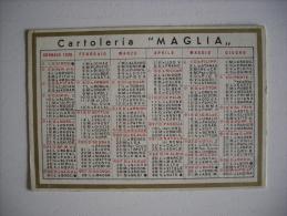 Calendario 1938 Cartoleria MAGLIA - Milano - Calendarios