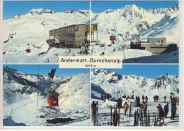 ANDERMATT - Gurschenalp, Mehrfachansicht Winter, Schneebar  -  1973 - UR Uri