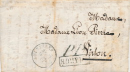 256/21 -- Lettre CHARGEE Et Affranchie En Numéraire - BRUXELLES 1860 -  PP Et CHARGE Encadré Vers VIRTON - Belgium