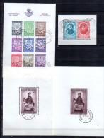 Collection De Blocs Feuillets Oblitérés, Entre BF 7 Et BF 37, Cote 219 €, - Bloques 1924 – 1960